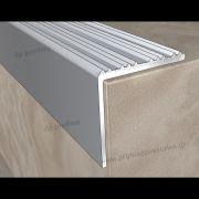 16100 Με Γραμμές (22mmΧ22mm) - Γωνίες Αλουμινίου στο D. P. PROFILES
