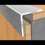 16200 (20mmX20mm) - Βαφή σε απομίμηση ξύλου στο D. P. PROFILES